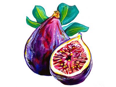 Pump+Rye Pump Up the Jam - Fig fruit label design food packaging food paint fig jam purple painting custom illustration jar screen printing label illustration packaging