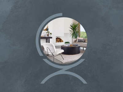 Christopher Zoltan Designs Logo modern black blue furniture design interior design design d z c chair logo branding