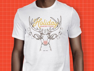 Otterbein's Cookies Holiday Shirt holiday antlers tshirt cookies christmas reindeer custom illustration illustration