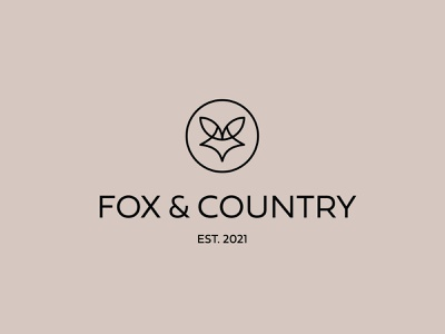 Fox & Country Logo candle lotion soap animal trendy modern boutique fox vector branding logo