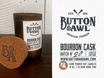 Button & Awl Candle Label
