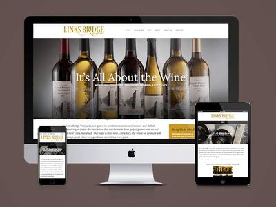 Links Bridge Vineyards Website Design