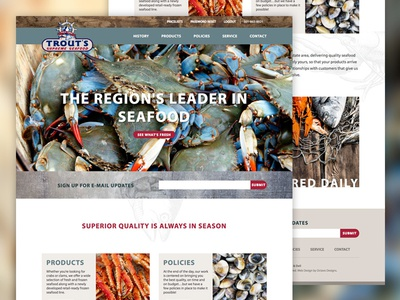 Trout's Supreme Seafood Website