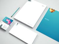 8vo letterhead envelope dribbble