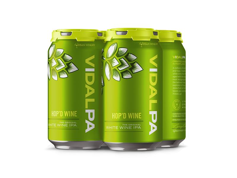 Urban Winery VIDALPA Packaging Design green can winery vidal hop ipa beer wine packaging
