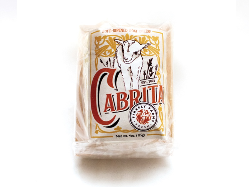 Cabrita Goat Cheese Label art nouveau custom illustration cheese goat packaging label