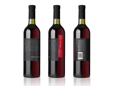 The Urban Winery 2017 Reserve Wine Label reserve maryland black red label wine metallic design packaging