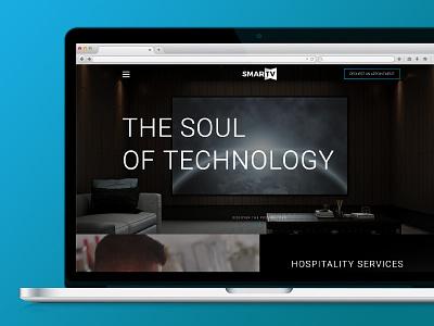 SmarTV Website design blue gradient modern clean sleek black responsive design technology smarttv web development web design website