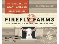 Herby Harissa Flavored Goat Cheese Label
