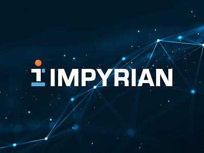 Impyrian Logo tech logo logo design branding design modern clean engineering technology circle orange blue it sans serif branding logo