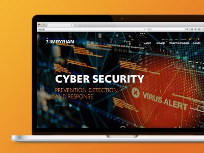 Impyrian Website text animation clean modern blue orange web technology engineering web development webdesign website