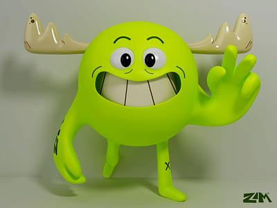 Migue 3D character character 3dsmax dribbble illustration render art digitalart design graphicdesign 3d piacentino