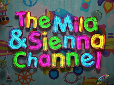The Mila & Sienna Channel graphic design branding animation logo illustration render art digitalart piacentino design 3d
