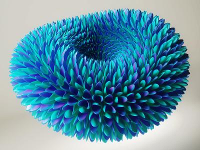 Flower shape piacentino graphicdesign geometry flower digitalart design color art 3d