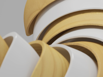 Wood & White Wallpapers wallpapers abstract illustration geometry shape render art design digitalart graphicdesign 3d piacentino
