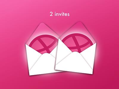 2 dribbble invites sketch pink dribbble game on invitation invites