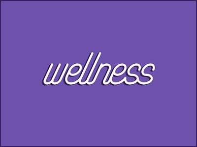 Well... wordmark simple monostroke logo wellness fitness health