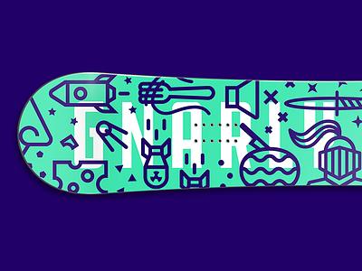 Gnarly snowboard grabs fun ski snow icons illustration snowboard