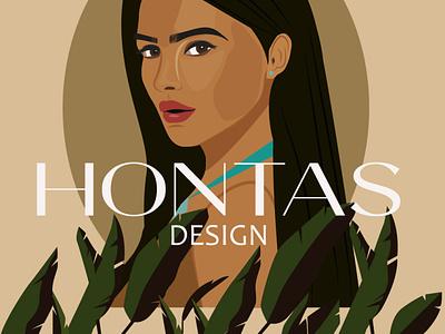 Hontas invitations logo vector branding art ilustrator illustration design