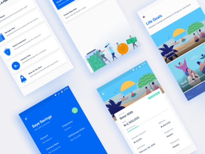 Cowrywise App Screens