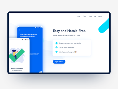 Cowrywise v2 website landing page savings fintech