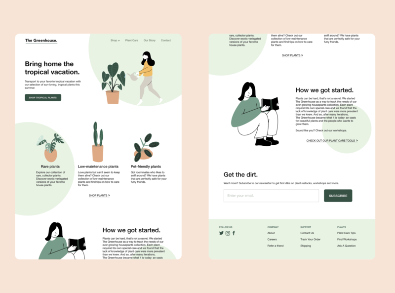 Daily UI #3 - Landing Page illustrator website minimal flat web illustration design ux ui dailyui