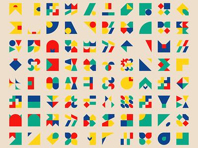 1300 Geometric shapes #1 square triangle shape geometric shapes design generative bauhaus art