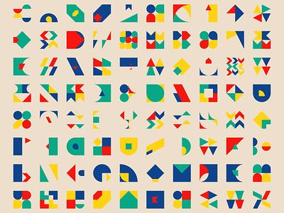 1300 Geometric shapes #2 square design shape shapes geometric generative bauhaus art