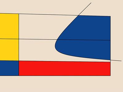 Mondrian #1 generative mondrian lines art