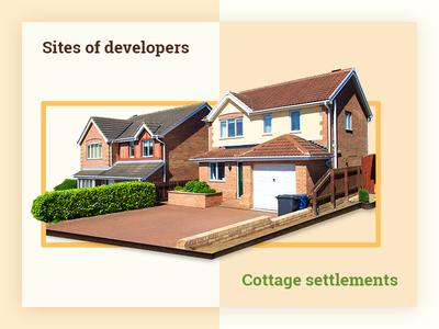 Sites of developers cottage settlements