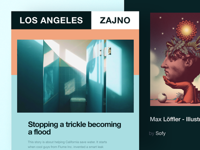 Here we go again: Zajno Newsletter #2 process experience community design advice dark inspiration zajno ui ux technology share newsletter news feed music email digital creative bright colors brand art agency