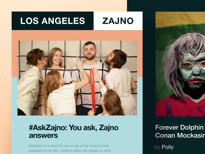 Zajno Newsletter #3: Teamwork communication experience community design advice teamwork inspiration zajno ui ux technology share newsletter news feed music email digital creative bright colors brand art agency