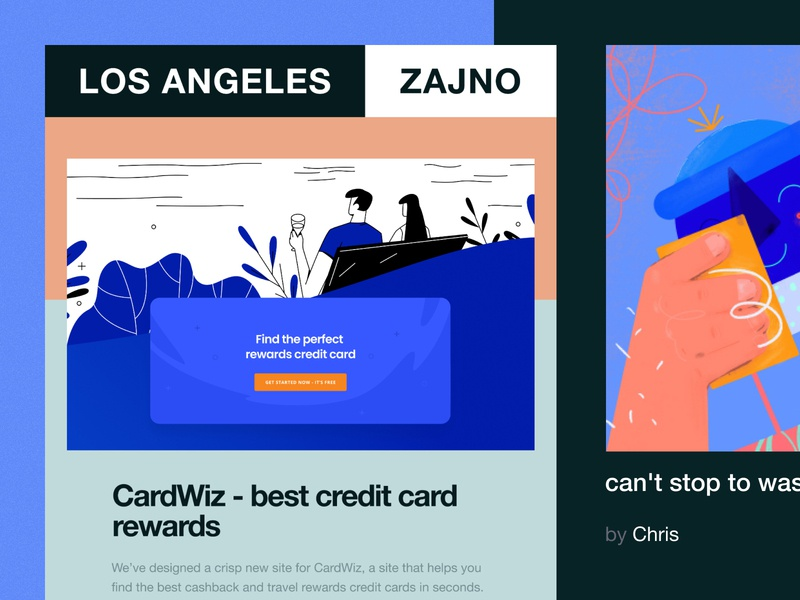 Newsletter 21: Cards with perks vibrant minimal typography bright color vector graphics flat poster web design branding inspiration zajno ui ux technology newsletter vector digital creative grid art design agency