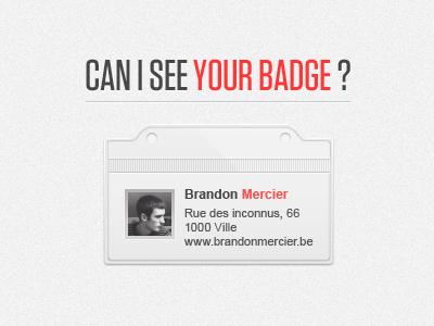 Badge badge contact