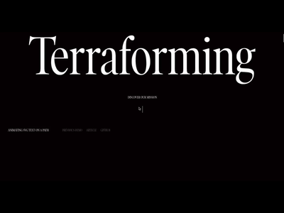 Terraforming: Layout for Animating SVG Text on a Path template animation css effect scroll uidesign website layout svg animation html svg