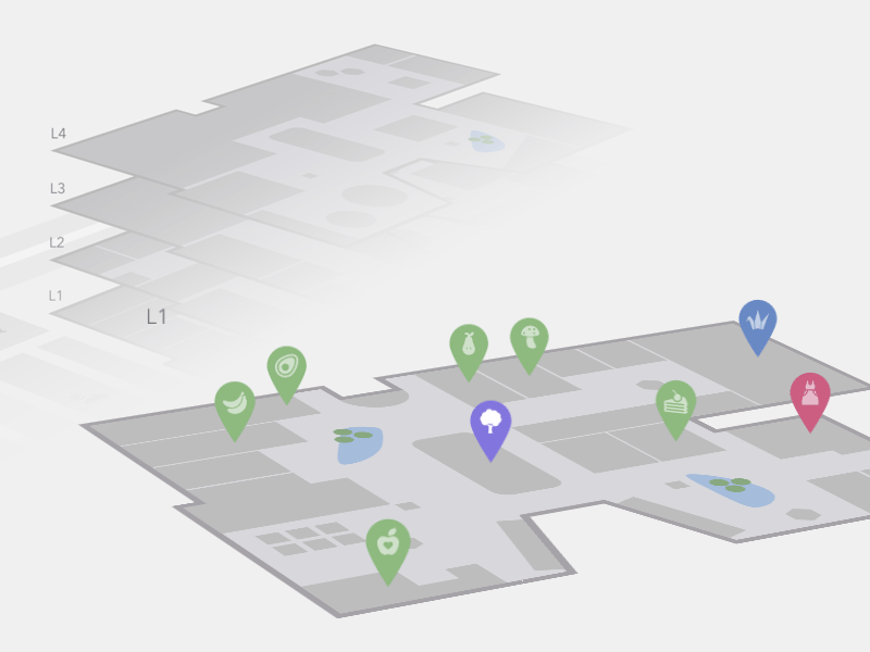 Interactive 3D Mall Map by Mary Lou on