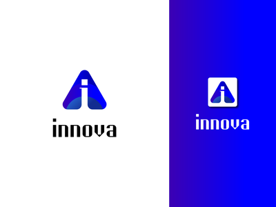 Innovation logo | i latter | app icon | Innovation icon ux typography flat art minimal 2d innovation animation motion graphics 3d ui vector icon graphic design branding app creative logo logo illustration design