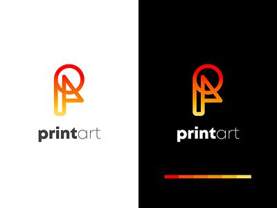 Modern Print art logo | pa latter logo design flat art minimal creativelogo logos modern palogo 3d motion graphics animation ui vector logo icon illustration graphic design design creative logo branding app