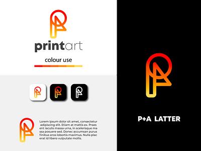 Modern PA latter logo design | app icon typography sketch monogram dribbble web motion graphics animation minimal flat 3d ui vector logo illustration icon graphic design design creative logo branding app