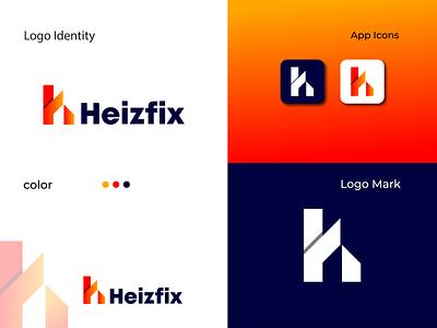 Branding Logo Design | H latter logo color latter art designer web flat minimal motion graphics 3d animation ux ui vector logo illustration icon graphic design design branding app