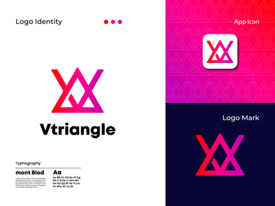 Modern logo | Logo design | Branding design | V triangle logo color art abstract typography web flat minimal motion graphics 3d animation ux vector ui logo illustration icon graphic design design branding app