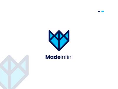 Modern logo | Logo design | madeinfini business logo abstract color latter web flat minimal infinite motion graphics 3d animation ux vector ui logo illustration icon graphic design design branding app