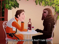 """Do I talk first or you talk first? I talk first?"""