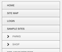 Joomla RWD template menu