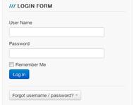 Joomla Bootstraped Login