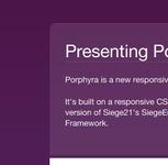 Porphyra - a Joomla Template