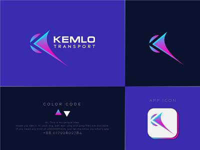KemloTransport Logo Design | Abstract Logo Design | Simple Logo clean logo simple logo logo sell transport logo k logo letter k minimalist logo minimalist minimal modern logo illustration graphic design design company logo business logo business branding abstract logo