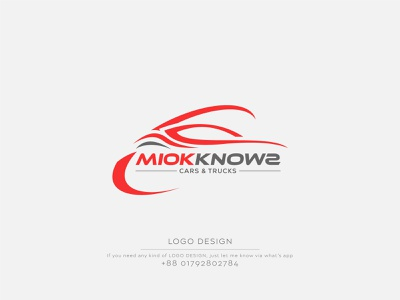 Miok Knowz Logo Design | Car Logo design | Car sell Logo logo design minimalist logo minimalist minimal logo logos car logo car design graphic design illustration logo company logo business logo business branding abstract logo