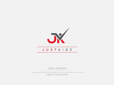 Just Kidz Logo Design | Simple Logo Design logos logo design logo folio simple logo marketing logo man symbol letter jk letter logo minimalist logo minimalist minimal design logo illustration graphic design company logo business logo business branding abstract logo