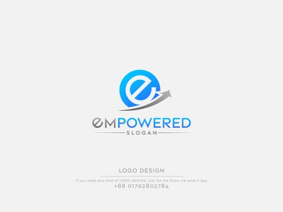 Empowered Logo Design | Simple Logo Design vector logo vector logos logo design e logo letter e letter logo simple logo minimalist logo minimalist minimal logo illustration graphic design design company logo business logo business branding abstract logo
